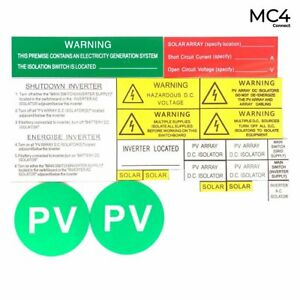 Engraved Solar Labels 21 pieces - Standard - Pack of 5 Sets