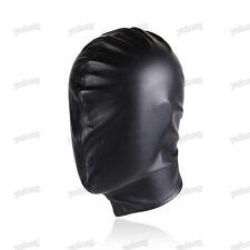 Quality PU Leather Gimp Full Covered Mask Hood Fetish Bondage Restraint