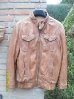 Herren-Lederjacke -Blouson -PRATO Leather Fashion Gr.52  in cognac