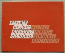 FIAT 850 SPORT COUPE & SPIDER Car Sales Brochure Oct 1969 GERMAN TEXT