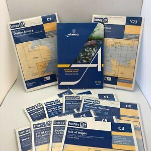 Set of 10 Imray Sailing Charts + Admiralty Tidal Stream Atlas Edition 4 23151 CP