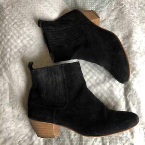 Bertie Black Suede Chelsea Ankle  Boots