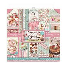 """NEW Stamperia 8"""" x 8"""" Paper Sheets Sweety"""