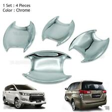 Door Handle Bowl Insert Cover Chrome Trim 4Pc Fits Toyota Innova Crysta 2017
