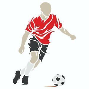 Soccer Stencil Reusable Football Player Sport Wall Stencil Template