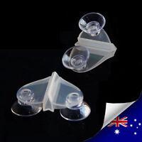 Pair Aquarium Fiah Tank Breeding Divider Suction Cup Clip  (A016)