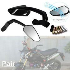 2PCS Motorcycle Scooter Dirt Bike 8MM 10MM Thread Side Angled Rear view Mirrors