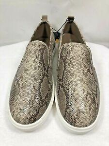 West loop Women's Animal Print Flat Memory Foam Slip On Sneaker Shoes