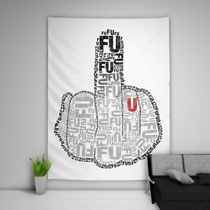 Fck You Tapestry Wall Hanging Mandala Bedspread Indian Poster