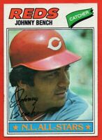 1977 Topps #70 Johnny Bench EX+ WRINKLE All-Star Cincinnati Reds FREE SHIPPING