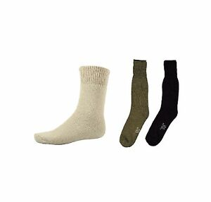 G.I. Style Heavy Weight Cold Weather Boot Socks - Olive Drab, Black, Or Khaki