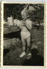 PHOTO ANCIENNE - ENFANT TOILETTE SHAMPOOING BAIN - CHILD BATH - Vintage Snapshot