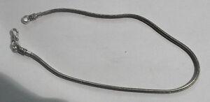 collana bagno argento indiano 42 CM CODA DI TOPO INDIAN SILVER snake  necklace