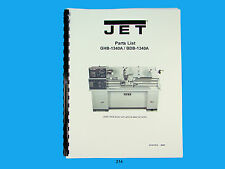 Jet  GHB-1340A/BDB-1340A Lathe  Parts List   Manual   *214