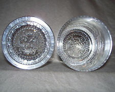Crown Royal Whisky ROCKS Glass (Set of 2) The Crown Cap is Embossed in the Base