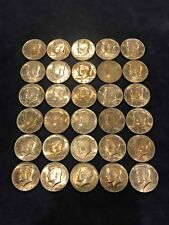 Lot (30) 1974 Kennedy Half Dollars All Toned - Free Shipping USA