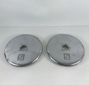"""Ivanko Barbell Company RM Machined Series Chrome Standard 1"""" Hole Plates pair"""
