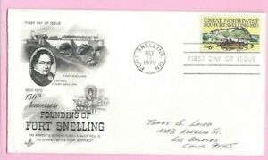 USA 1970 Art Craft  FDC - 150th Ann FORT SNELLING  - Fort Snelling & FDI Slogan
