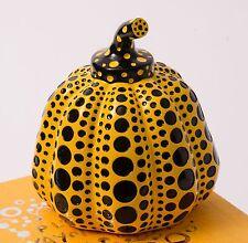 New Yayoi Kusama Yellow Dots Pumpkin Object / Paper weight w/Box from Japan