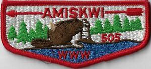 OA Amiskwi Lodge 505  Flap RED Bdr. North Bay, MA [MX-7850]