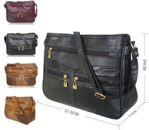 Women Soft Leather Shoulder Bags Ladies Handbag Cross Over Messenger Bag Purse