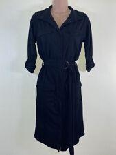 Neues AngebotBnwt Boohoo schwarz Stretch Jersey Belted Pocket Shirt Kleid Größe 8 Euro 36