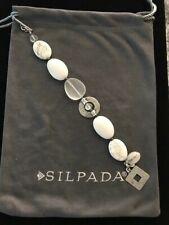 Silpada Bracelet White Jade Howlite Glass Sterling Silver B1946 Retail $84