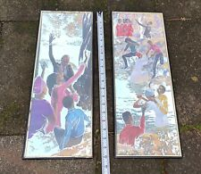 Vtg African AmericanRiver Baptism Mirrors Plaques Picture Wall Art Hanging