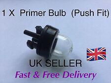 1 X STRIMMER PUSH FIT FUEL PRIMER PUMP / BULB  ( PUSH FIT )
