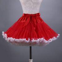 Lolita Petticoat Crinoline Underskirt Rainbow Trim Tutu Skirt Cosplay Hippy Cute