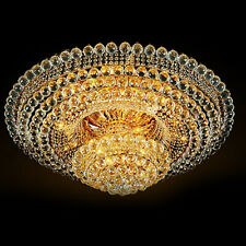 60Cm Luxury Crystal Chandeliers Led Ceiling Lamps Flower Shape Lighting Fixtures