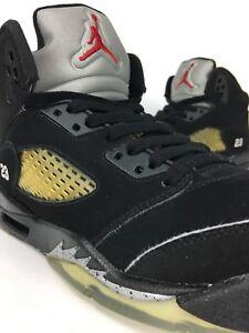 Air Jordan 5 V Metallic Silver Size 7 2011 440888-010 GS Black Retro