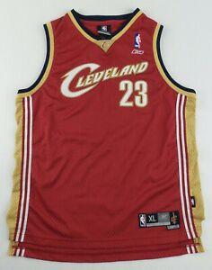 Vintage Reebok Cleveland Cavaliers Lebron James Basketball Jersey Size Youth XL
