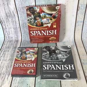 Learn To Speak Spanish PC CD Rom 5 CDs With Book Windows 95 98 Me 2000 XP