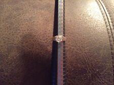 QVC Diamonique CZ Sterling Silver .925 Solitare Ring Size 9