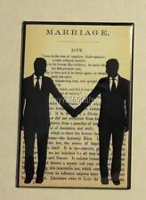 """Vintage Gay Grooms Wedding Longfellow Marriage Poem 2"""" x 3"""" Fridge MAGNET LGBT"""