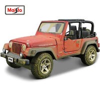 Maisto 1:27 Old Friends Jeep Wrangler Rubicon Diecast Model Car Pickup NEW INBOX