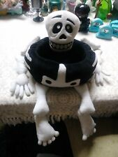 Vintage Skeleton Basket Plush Halloween Decoration Bones Large Cute