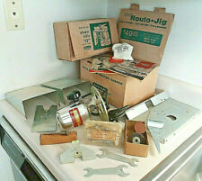 VINTAGE 1955 PORTER CABLE 140 ROUTO-JIG ROUTER & 5020 SHAPER TABLE W/BOXES