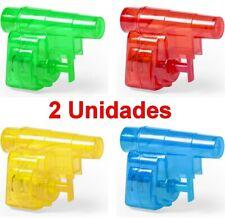 2 x Juguete Pistola de Agua infantil 5,3 x 4 x 2,2 cm,deposito,cierre seguridad