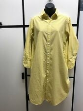 UMii908 By 45rpm S Cotton Yellow Gingham Check Collar Shirt Dress with Pockets