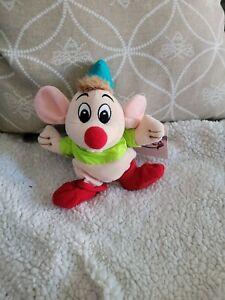 Disney Store Cinderella Gus the Mouse Plush Bean Bag Stuffed Animal Toy Beanie