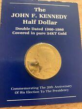 1893 Jfk Half Dollar 24kt Gold Plated