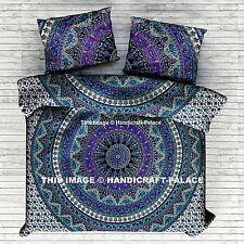 Elephant Mandala Comforter Cover Bedding Throw Indian Duvet Doona Cover Blanket