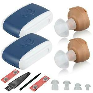 Mini Hearing Aid Invisible Digital Ear Enhancer Sound Voice Amplifier Set
