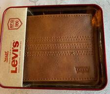 Wallet Levis Men Style Tan 100%Original Lether