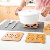 Accessories Wood Coaster Pad Cup Mat Placemat Insulation Heat Mat Pot Holder