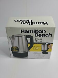 Hamilton Beach 40978 Cord Free Serving 1L Stainless Steel Electric Kettle UNUSED
