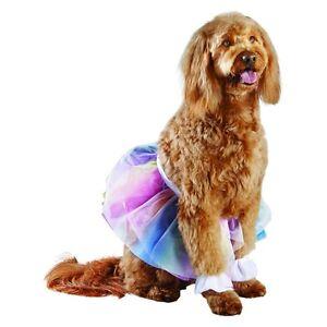 Three Piece Dog Rainbow Tutu Costume Size L/XL 100+ pounds NEW