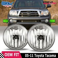 For Toyota Tacoma 05-11 Factory Bumper Replacement Fit Fog Lights Clear Lens